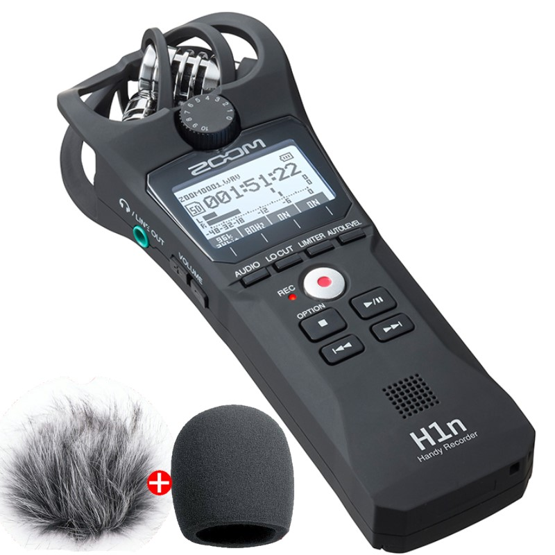 ZOOM H1N Handy Recorder Digital Camera Audio Recorder Stereo Microphone for Interview SLR Recording Microphone Pen