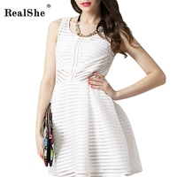 1 Piece Mesh Women S Fashion V Neck Hollow Out Ball Gown Skinny Umbrella Summer Dresses