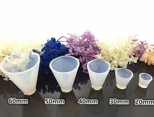 Image 2 - Epoxy de silicona para hacer joyas, moldes de resina hechos a mano, molde de resina, cono Triangular cúbico, herramientas de fabricación de joyas redondas