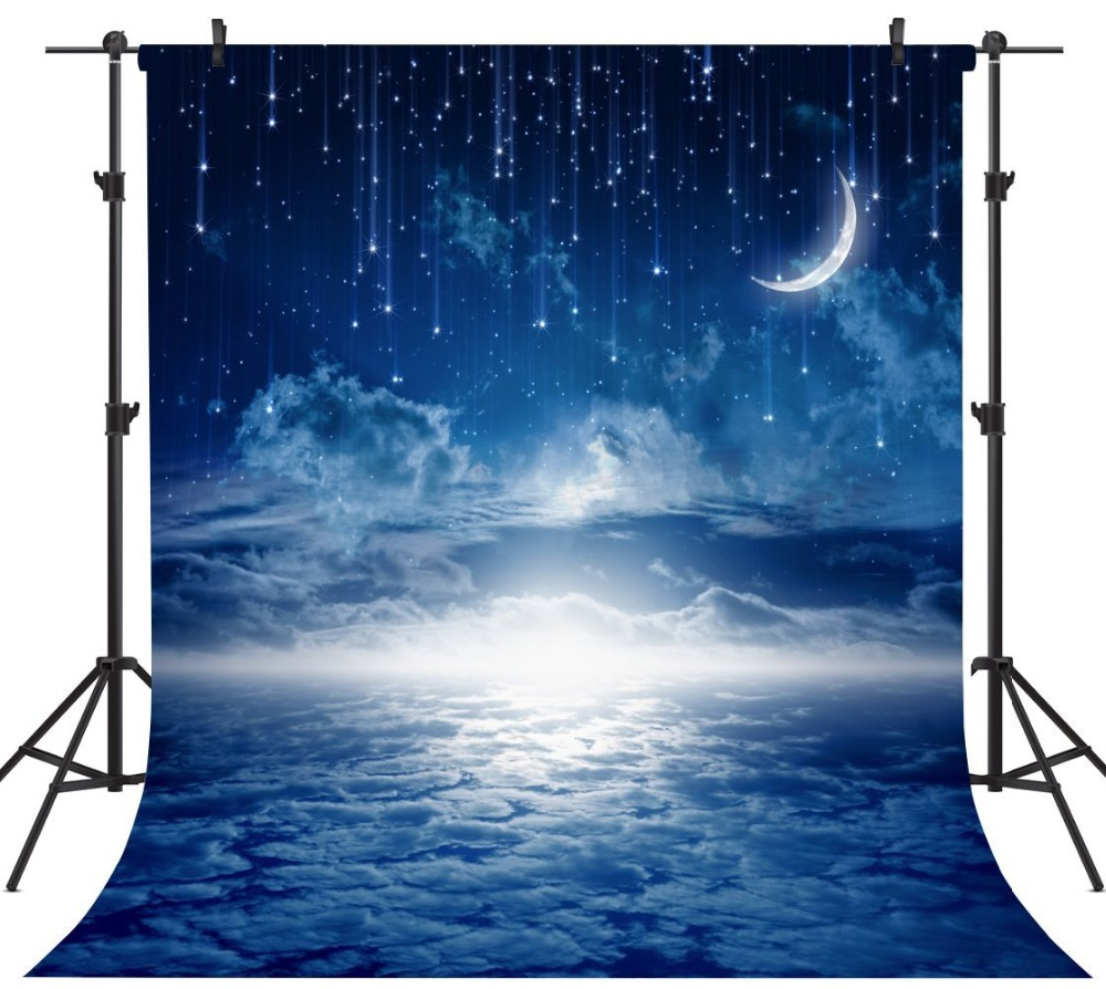 Capisco Photography Backdrops Moon Clouds Party Backdrops Meteor Shower Background for Photos