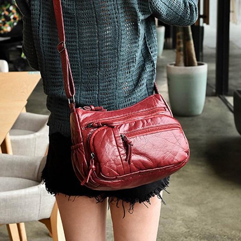 2018 Vintage Small bags Women Soft PU Leather Mini Handbag Designer Crossbody Handbags Ladies Hand Bags Cheap Female Clutch