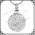 MJD8865 Crystal Ball Cremation Jewelry Pendant Ash Holder Pendant Jewelry Keepsake Memorial Urn Necklace
