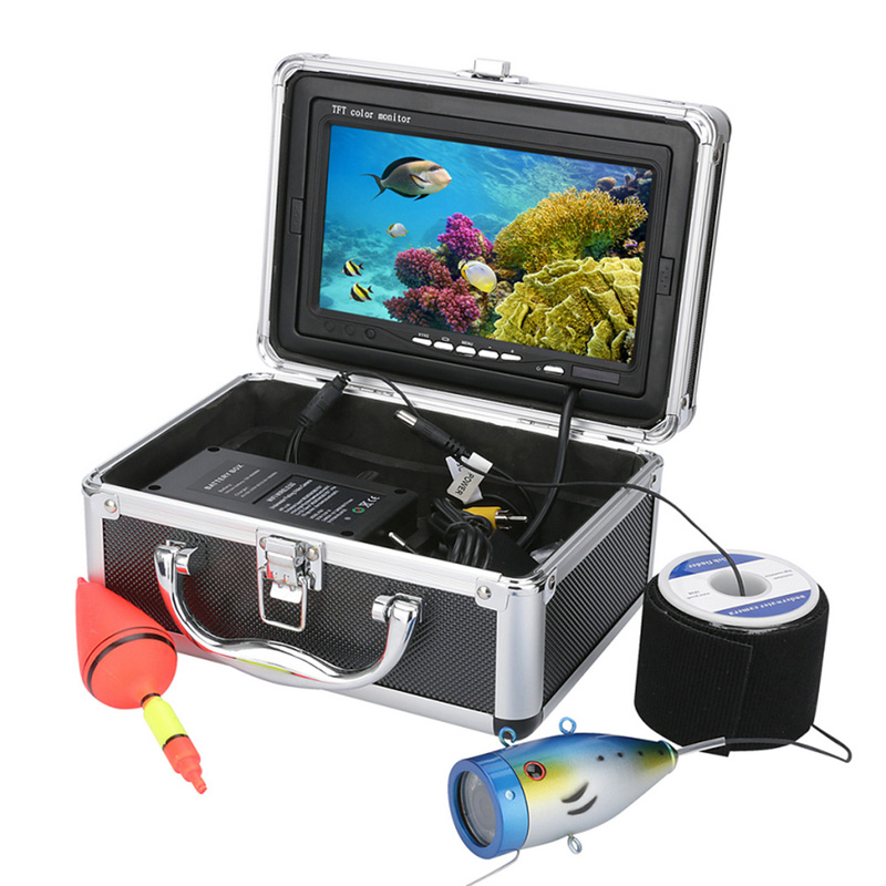 7 inch Fishing Finder 15M Underwater 1000tvl 12-LED Lights Fishing Video Camera Equitment For Fish Searching Tools 2 4g wireless fish finder underwater fishing camera video free soft app 50m underwater breeding monitoring for fish searching