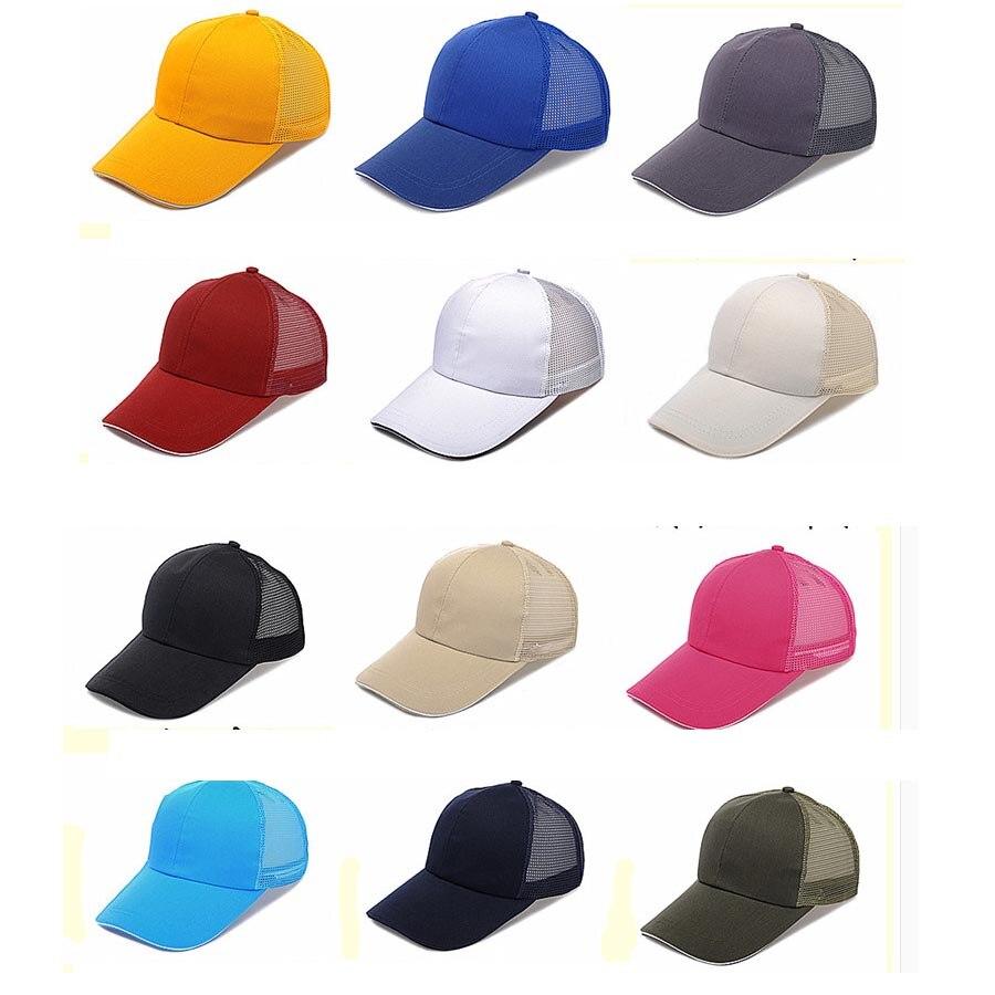 Camionneur chapeaux broderie gratuite votre marque LOGO adulte visière soleil chapeaux maille filet arrière chapeaux et casquettes