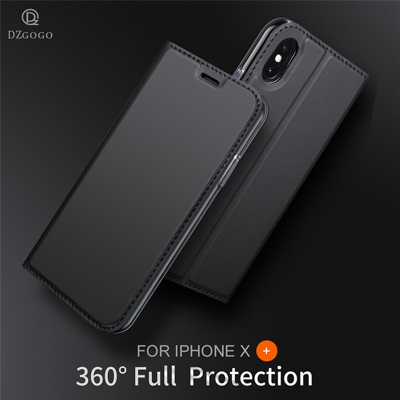 For iPhone X Flip Case Luxury Leather Cover For iPhone 6 6s 7 8 Plus Coque Stand Wallet For iPhone 6 S 7 8 Plus phone case cover