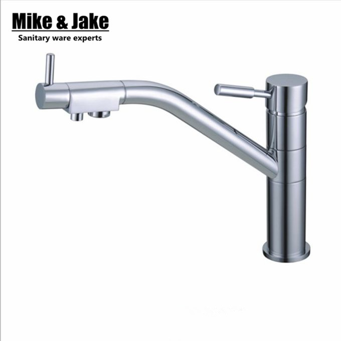 Water Filter Kitchen Tap Faucets 3 Way Double Function Kitchen Mixer Drinking Direct Water Faucet 3 Way Mixer Torneira