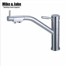 Фильтр для воды Кухонный Кран Смесители 3 way двухместный функция кухонный смеситель Питьевой прямой Воды Кран 3 Способ Смеситель Torneira
