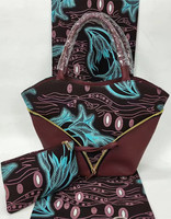 African fabric tissus wax with 2pcs women handbag african wax prints fabric 100% cotton ankara fabric for patchwork TN A23