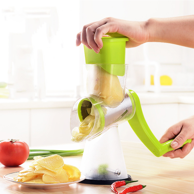 Multifunctional Mandoline Slicer Manual Drum Vegetable Shredder Potato Julienne Carrot Cheese Grater Round Stainless Steel Blade blomus 63565 cheese grater