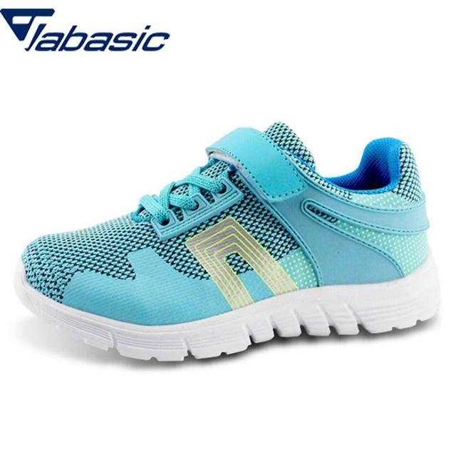 bb7f7744 US $14.5 45% OFF JABASIC Children Sneakers Soft Mesh Breathable Running  Shoes Kids Casual Sport Girls Boys Hook & Loop Boys Travel School Shoes -in  ...