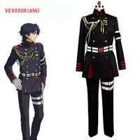 VEVEFHUANG Anime Seraph of the end Owari no Serafu Guren Ichinose Cosplay Costume Military Uniform Outfit Halloween Clothing Set