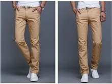 Новый 2016 Модные Мужские Джинсы мужчин Slim fit Прямые Повседневные Брюки мужские красный/khaki/синий 8 цвета hombre pantalones грузов(China (Mainland))