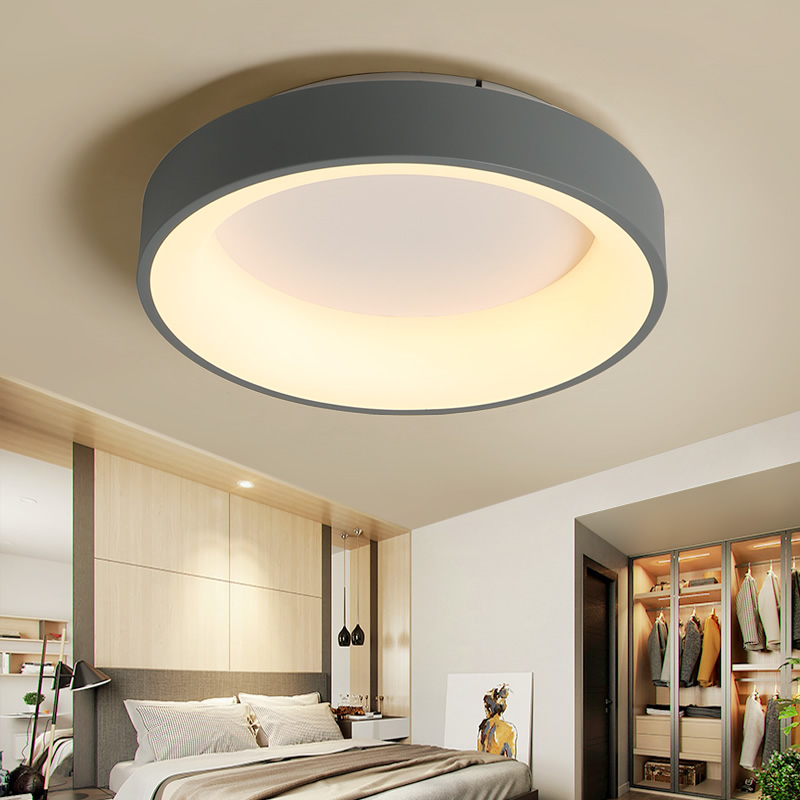 NEO Gleam Round/Square/Triangle Modern Led Ceiling Lights For Living Room Bedroom Study Dimmable+RC Lamp Fixtures