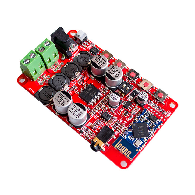 US $9 89 10% OFF|Bluetooth 4 0 Stereo Amplifier 25W*2 Digital Signal AMP  Moduel Dual Output NE5233 Preamp Board Car TDA7492P Chip DC 8 20V Input -in