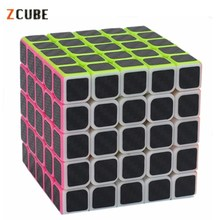 Zcube 5×5 Carbon Fiber Sticker Speed Smooth Magic Cube
