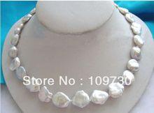 Ювелирные изделия 00418 замечательный жуткий белый Reborn Кеши жемчужное ожерелье
