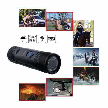 Mini Camcorder Video Recorder FHD 1080P Outdoor Trail Hunting Camera Waterproof HD DVR Torch Gun Cam Outdoor Sports Helmet DV - DISCOUNT ITEM  11% OFF Sports & Entertainment