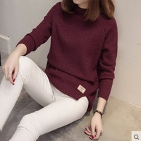 2017 New Arrive Female O Neck Sweater Women Knitted Sweaters And Pullovers Long Sleeve Pull Femme