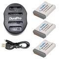 DuraPro 3pcs NB-13L NB13L Li-ion Camera Battery + 1 USB Dual Charger For Canon PowerShot G5 X G5X G7 X G7X G7 X Mark II G9 X G9X