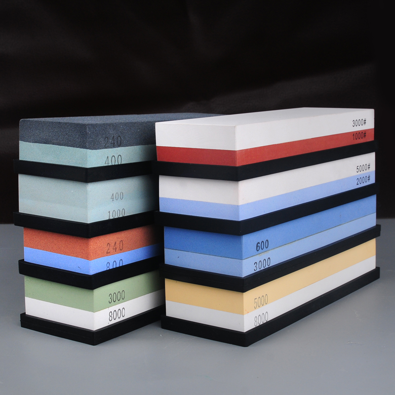 1pcs 240/800 1000/3000 Grit Kitchen Knife Sharpener Double Side Sharpening Stone Corundum Whetstones  Professional Oil Stone