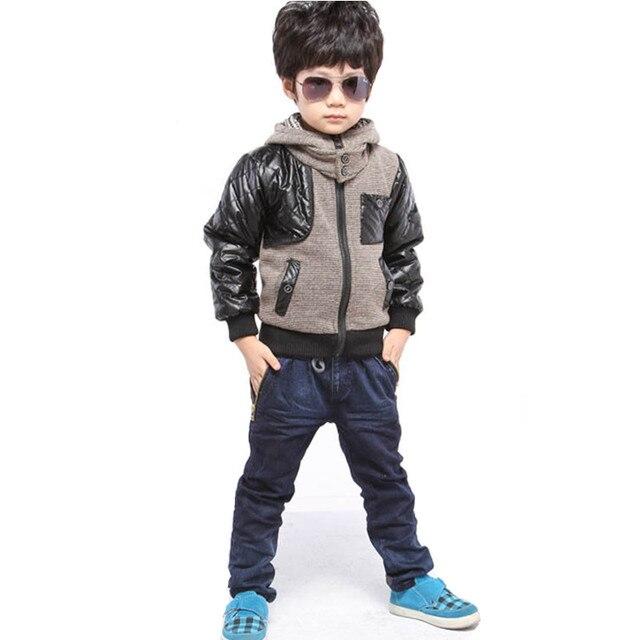 6916d0283 Moda Otoño bebé niños chaquetas ropa Casual niños prendas de abrigo Infantil  invierno ropa niños Casaco
