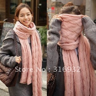 O2 Wholesale-hot sale~ new style thicken scarf Knitting wool collar long scarf