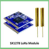 2 piezas 433mhz RF LoRa SX1278 PM1280 la comunicación a larga distancia receptor y transmisor SPI LORA IOT + 2 piezas de antena de 433MHz
