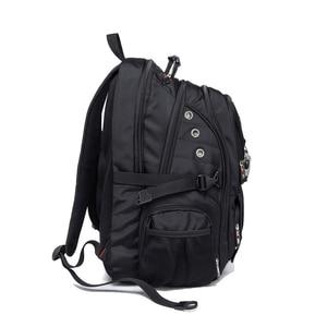 Image 4 - Waterproof Oxford Swiss Backpack Men 17 Inch Laptop backpacks Travel Rucksack Female Vintage School Bags Casual bagpack mochila