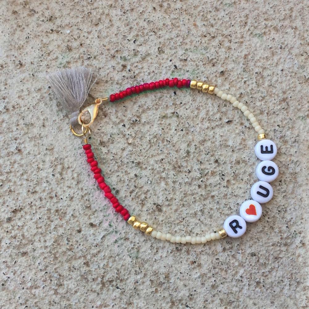 seed bead bracelet personal tassel bracelet femme letter. Black Bedroom Furniture Sets. Home Design Ideas
