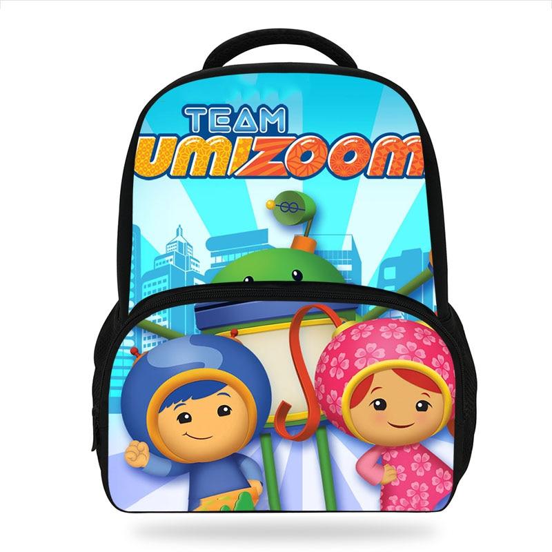 Kids School Bags Student Shoulder Backpack Team Umizoomi Children Book Schoolbag Daypack Mochila Escolar