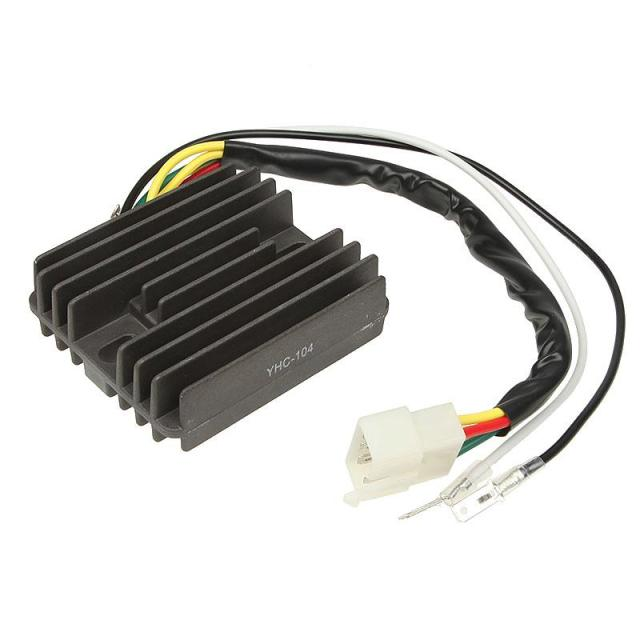 12V Solid-state 5-pin Male Connector 2 Wire Terminals Motorcycle Voltage Regulator Rectifier Replacement For Honda CB 400cc