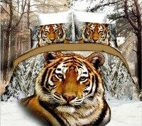 Heißer Verkauf 3D Tier Pegasus Tiger Schmetterling Rose Bettwäschesatz King Size Bettbezug Bettlaken Kissenbezug Wohnkultur Motorrad