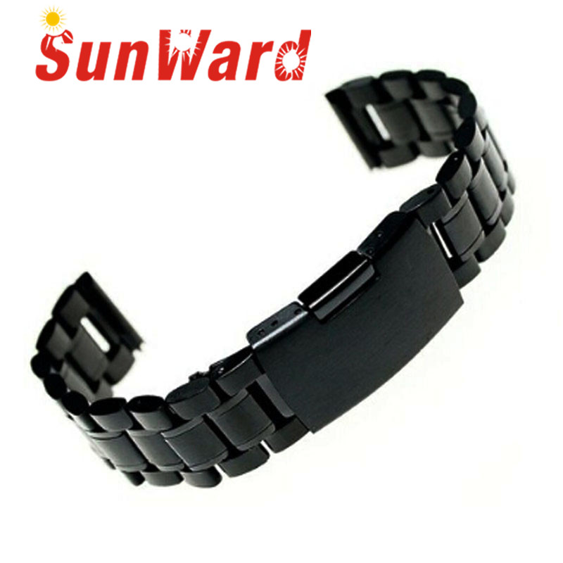 Men Women Stainless Steel Bracelet Watch Band Strap Straight End Solid Links June17 new high quality 18mm 20mm 22mm women men stainless steel bracelet watch band strap straight end solid links watch accessories