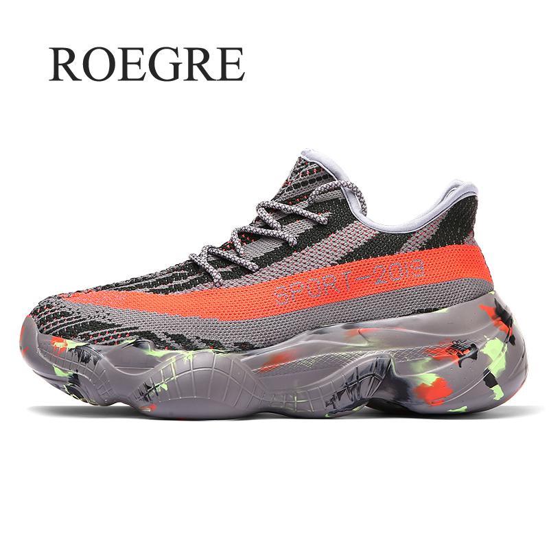 Mais tamanho 47 48 malha respirável chunky tênis 2019 nova moda masculina plataforma formadores homem confortável pai sapatos masculinos