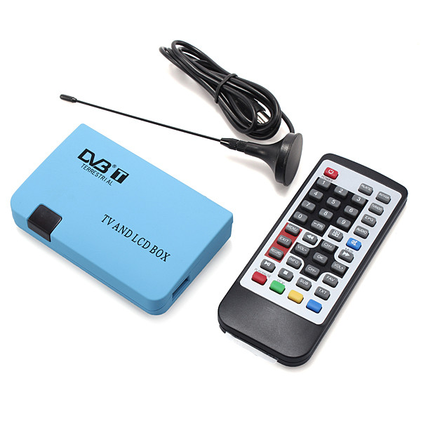 Free shipping Digital TV Box LCD/CRT VGA/AV Tuner DVB-T Free View Receiver Converter For Computer TV With EU Plug
