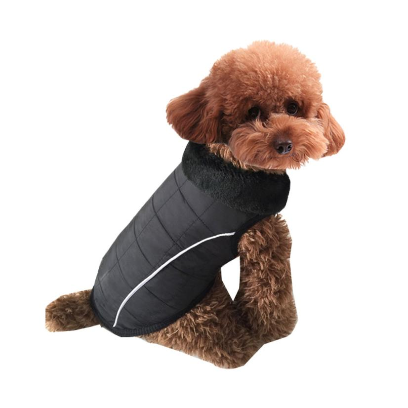 Pet Dog Puppy Cat Winter Warm Padded Coat Vest Fleece Waterproof Jacket hondenkleding winter trui clothing for small dogs
