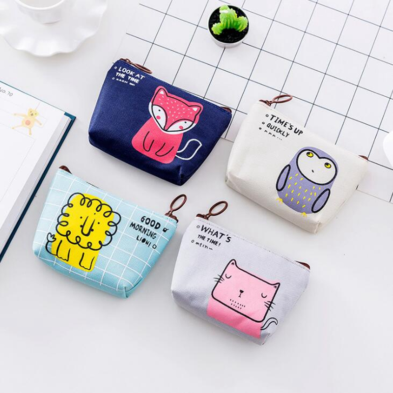 Kawaii Animal Owl Girl Coin Purses Holders Women Cute Cartoon Canvas Pouch Children Wallet Small Keys Bag Carteira For Kids Gift 2017 new ladies purses in europe and america long wallet female cards holders cartoon cat pu wallet coin purses girl