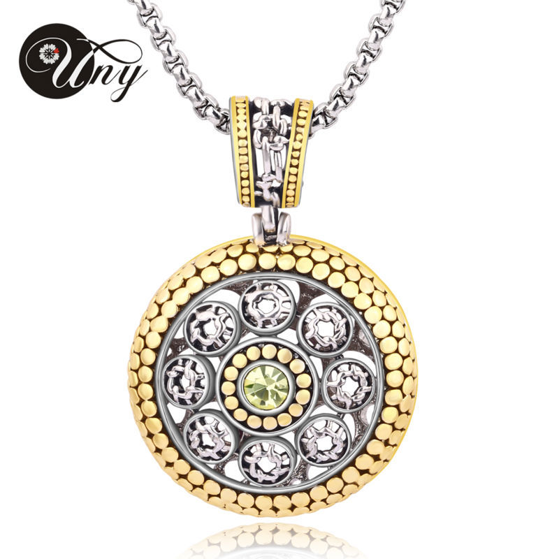 UNY Luxury Gold Plated Chain Elegant Unique Beautiful Necklace Zircon Crystal Necklace Women Fashion Jewelry Free