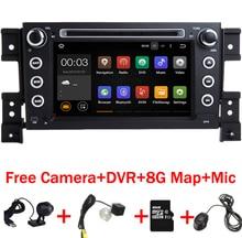 2 din android 7.11 coches reproductor de DVD para Suzuki grand vitara multimedia car radio stereo gps con DVR cámara Mapa del volante