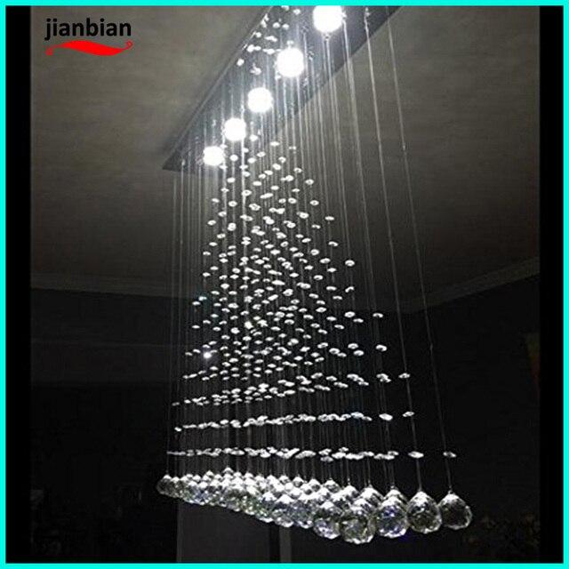 Modern crystal rain led pendant lamp for bathroom living room and bedroom hallway