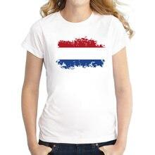 Blwhsa qualidade superior holanda bandeira camisas femininas algodão holanda bandeira estilo nostalgia jogos fãs cheer t-shirts