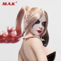 1/6 X 013 Suicide Harry Quinn Female Joker Head Carved Model PVC Head Sculpt for 12'' Phicen TBL Pale Girl Figure Body Accessory