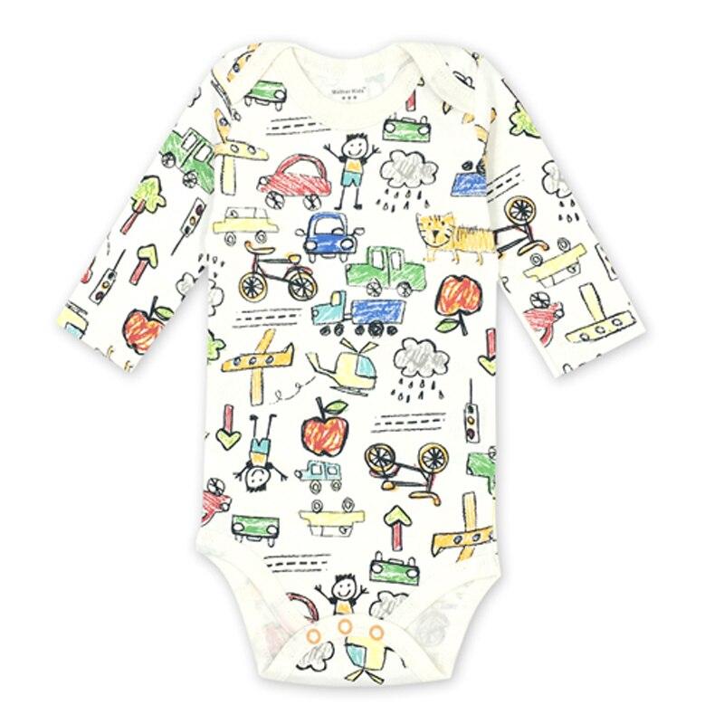 Baby Bodys Neue Geboren Baby Boy Kleidung Babys Infant Kleinkind Gedruckt Langen ärmeln 100% Baumwolle Bebes Kleidung 0-24 Monate