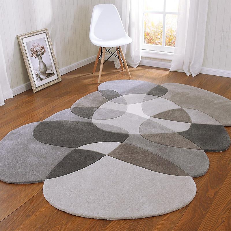Высокое качество необычный журнальный столик для гостиной ковер геометрический акриловые ковры для гостиной коврики для спальни ручной работы - Цвет: 3