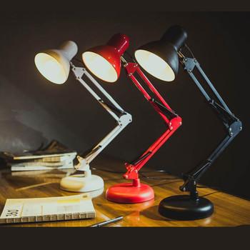 Nowoczesne jakości lampy biurko Lampy led moda kreatywny czytanie studium lampy stołowe E27 żarówka led lampa stołowa odpowiednie napięcie 90 #8211 260V tanie i dobre opinie iron 90-260 v 110 v 220 v 31-40 w 3 years MULTI Obróbka plastyczna Dotykowy włącznik wyłącznik Akryl Żarówki led