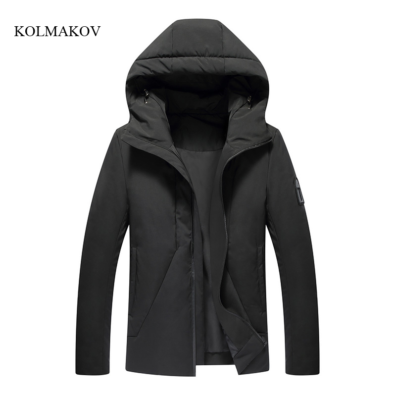 2017 new arrival winter style men boutique   down     coats   fashion casual slim hooded men's solid zippers trench   coat   size M-3XL
