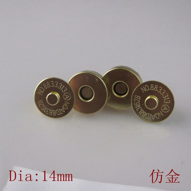 26fda55df 20 Sets lot Gold Plated Magnetic Snaps button 14mm Bag Purse Clasp Metal  Buttons Fastener Sewing Craft Scrapbook