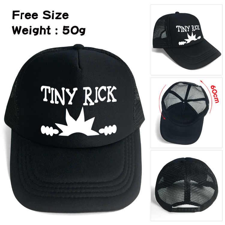 76b188ef0228e ... OHCOMICS New Anime Rick and Morty Pickle Rick Cool Black  Cotton+Polyester Hat Cap Baseball ...