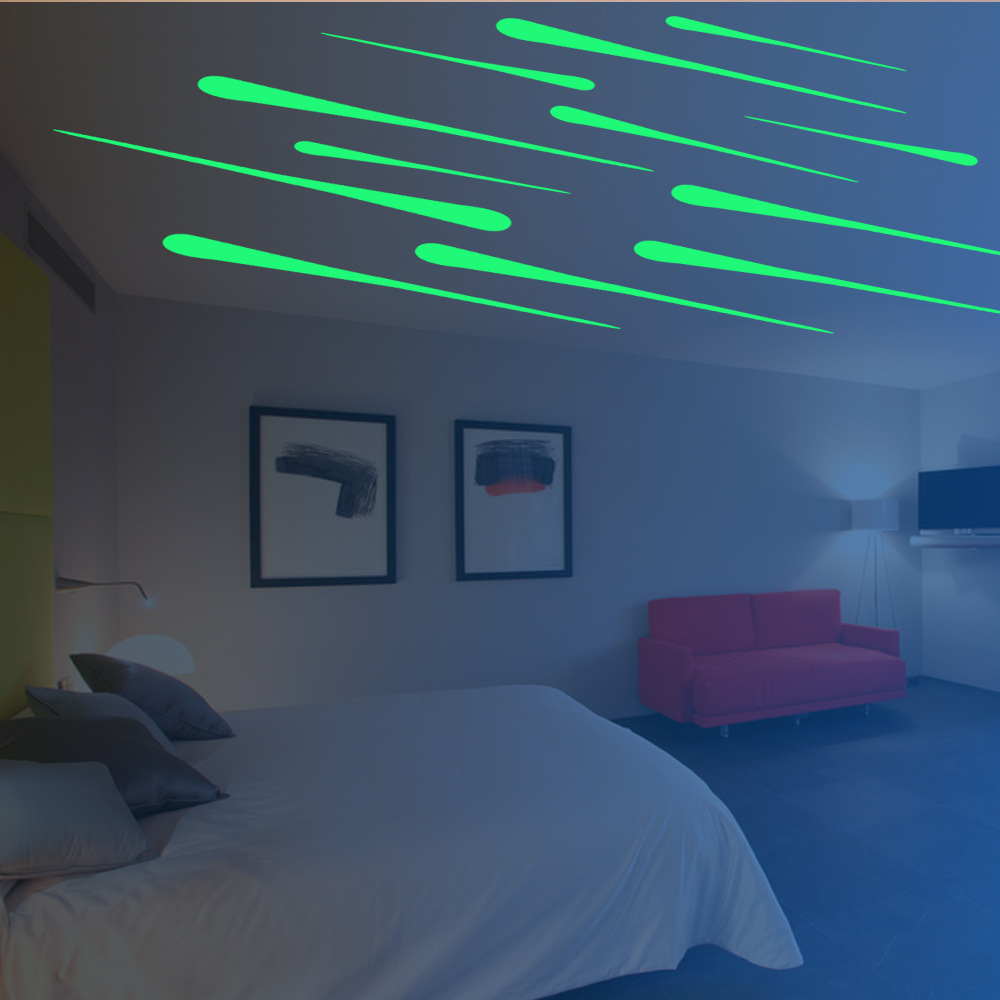 Us 6 87 14 Off Ceiling Decoration Glow Gl Stickers Fluorescence Meteor Permanent Luminous Children Room Dormitory In Wall