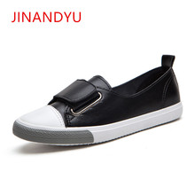 White Black Flat Leather Shoes Women 2018 Slip On for Loafers Ladies Platform Flats Zapatos Mujer